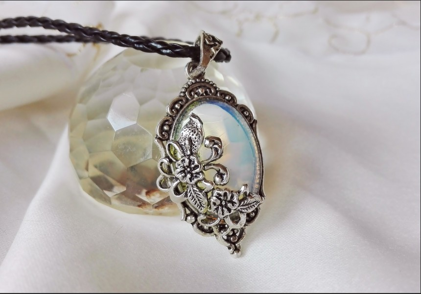 Opalite Crystal Victorian Necklace