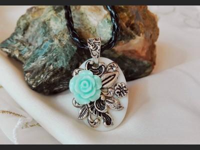 Blue Rose Romantic Pendant