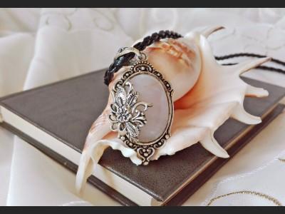 Rose Quartz Victorian Cameo Necklace