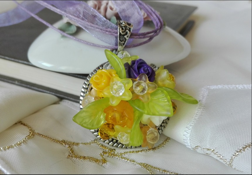 Romantic Summer Flower Necklace
