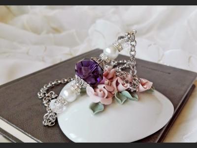 Dark Purple Crystal Necklace
