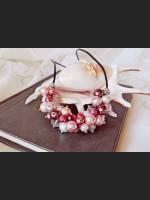 Romantic Purple Pearl Leather Necklace