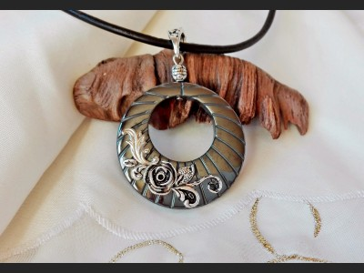 Hematite Victorian Pendant Necklace