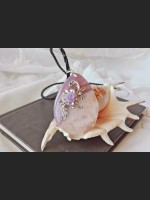 Victorian Light Salmon Agate Necklace