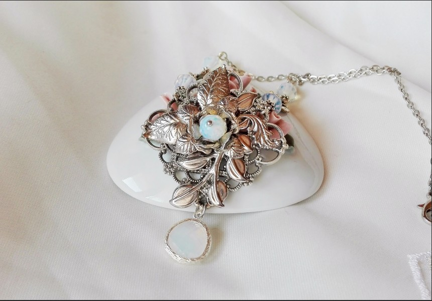 Opalite Victorian Necklace