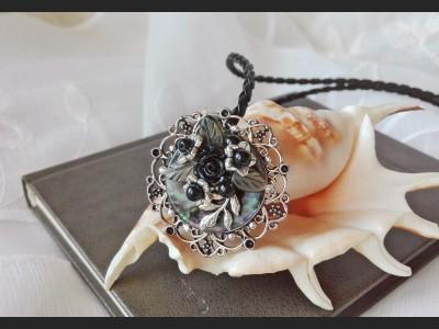 Victorian Filigree Cameo Necklace