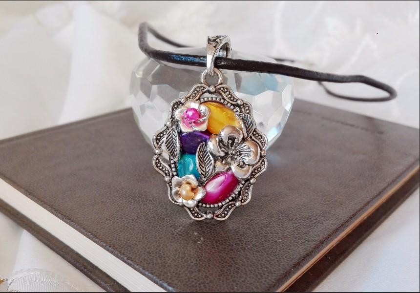 Rainbow Multicolor Vintage Style Necklace