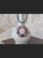 Amethyst Vintage Flower Necklace