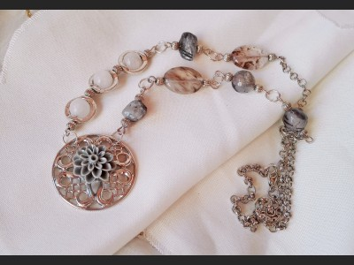 Rutile Quartz Gemstone Necklace