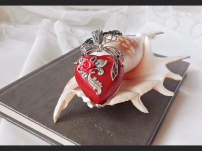 Jasper Heart Vintage Necklace