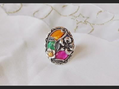 Rainbow Vintage Victorian Ring